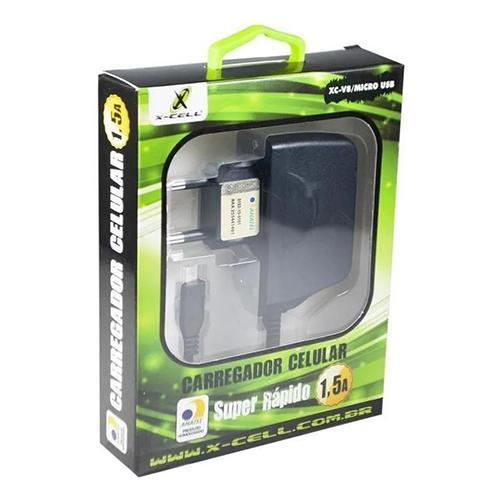 Carregador Celular Micro USB Para Celular/Tablet Bivolt - XC-V8