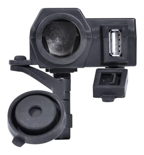 Carregador de Celular para Motocicleta Entra 12V ou 24V Saída USB 5V - 2.1A Prova D'Água
