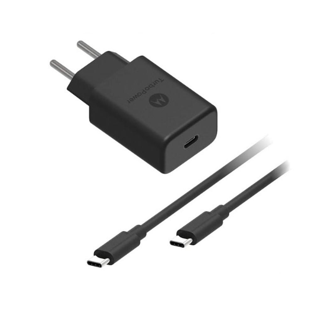 Carregador Motorola Turbo Power 27W Com Cabo USB Tipo-C Original