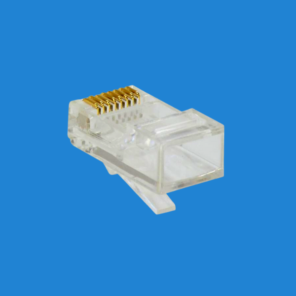 Conector Modular Plug RJ-45 8P8C CAT 5E branco (unidade)