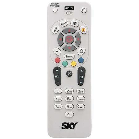 Controle Receptor SKY Digital C01238 RC64SW