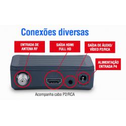 Conversor Digital Aquário Dtv-4000 com Antena interna Aquário DTV-100