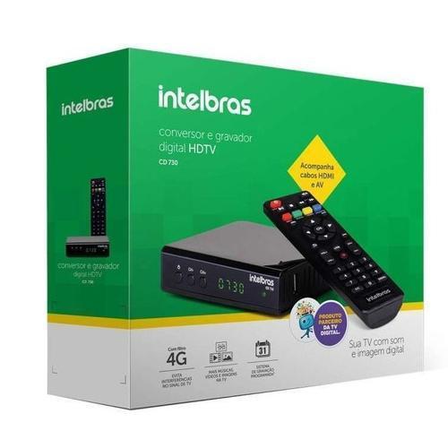 CONVERSOR DIGITAL DE TV INTELBRAS FULL HD COM GRAVADOR - CD 700