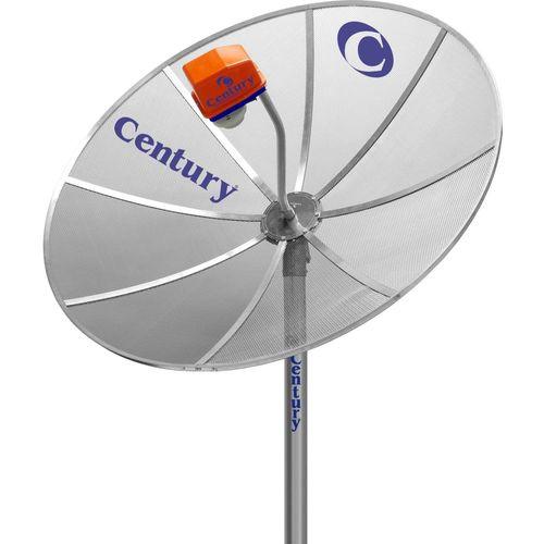 Kit com 2 Antenas Parabólica Century 1,70metro sem lnbf sem receptor sem cabo