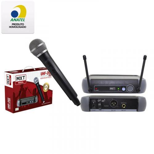 MICROFONE SEM FIO PROFISSIONAL R201 UHF MXT