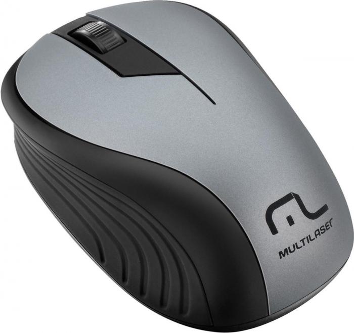 Mouse Sem Fio 2.4Ghz Preto Grafite Usb - MO213 Multilaser