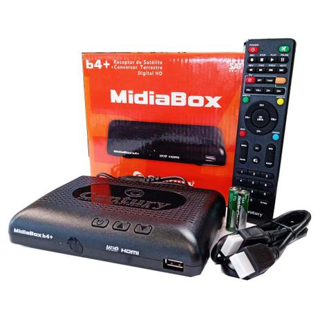 RECEPTOR CENTURY MIDIABOX B4+ COM CONVERSOR DIGITAL TERRESTRE