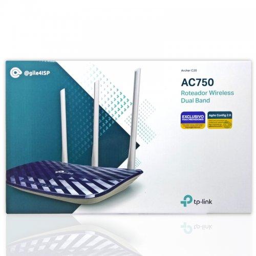 Roteador TP-Link Wireless AC750 Archer C20 Dual Band 3 Antenas