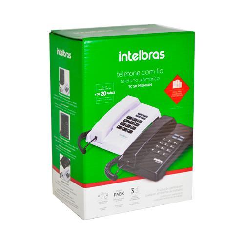 TELEFONE DE MESA COM FIO INTELBRAS TC50 PREMIUM PRETO 4080086