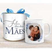 Caneca com foto para mãe na Tubolata - Azul