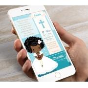 Convite Digital para Eucaristia - Tema Eucharist Tiffany