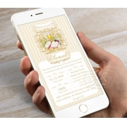 Convite Digital para Whatsapp - Arabescos