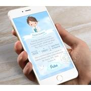 Convite Digital para Whatsapp - Menino Céu