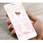 Convite Digital Personalizado - Anjinha na Nuvem
