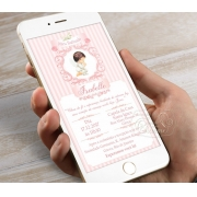 Convite Digital Personalizado - Arabescos Rosa