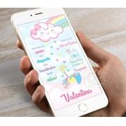 Convite Digital Personalizado - Chuva de Amor - Menina