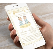 Convite Digital Personalizado - Damask Irmãos