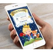 Convite Pequeno Príncipe - Digital Chá Bebê / Fraldas Whatsapp