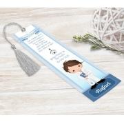 Marcador Livro / Santinho Personalizado - Cálice Azul