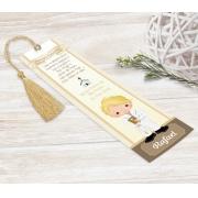 Marcador Livro / Santinho Personalizado - Cálice Dourado
