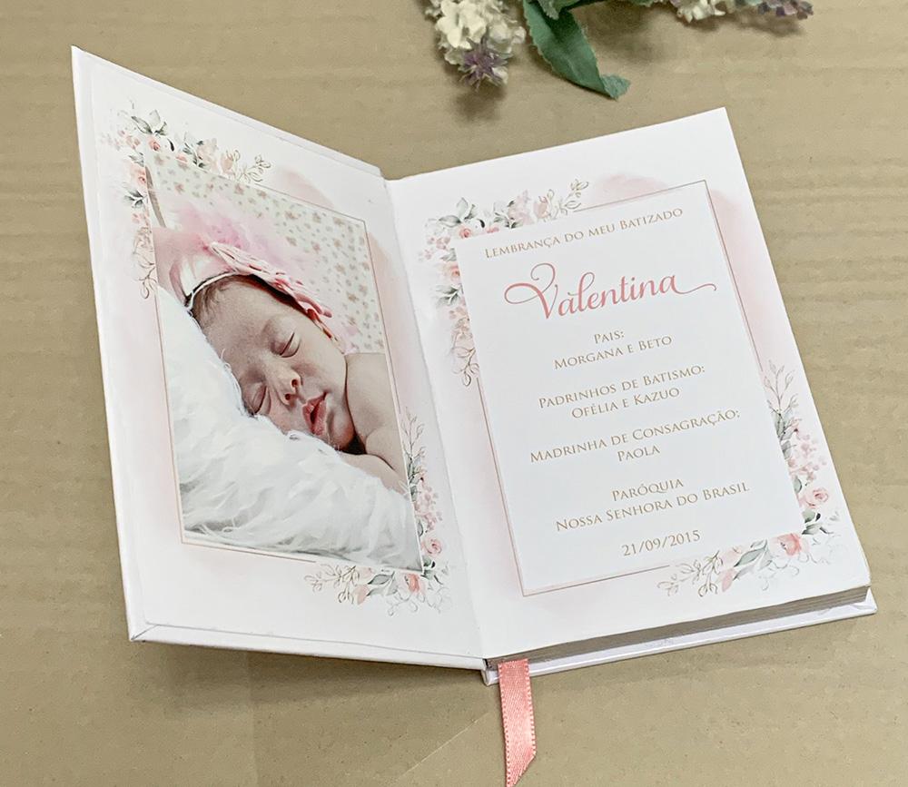 Bíblia Capa Dura Personalizada com Fotos do Bebê