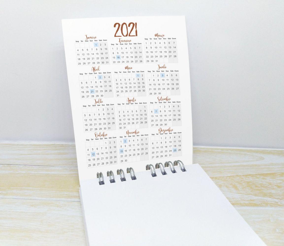 Bloquinho com Lápis e Calendário para Final de Ano - FÉ