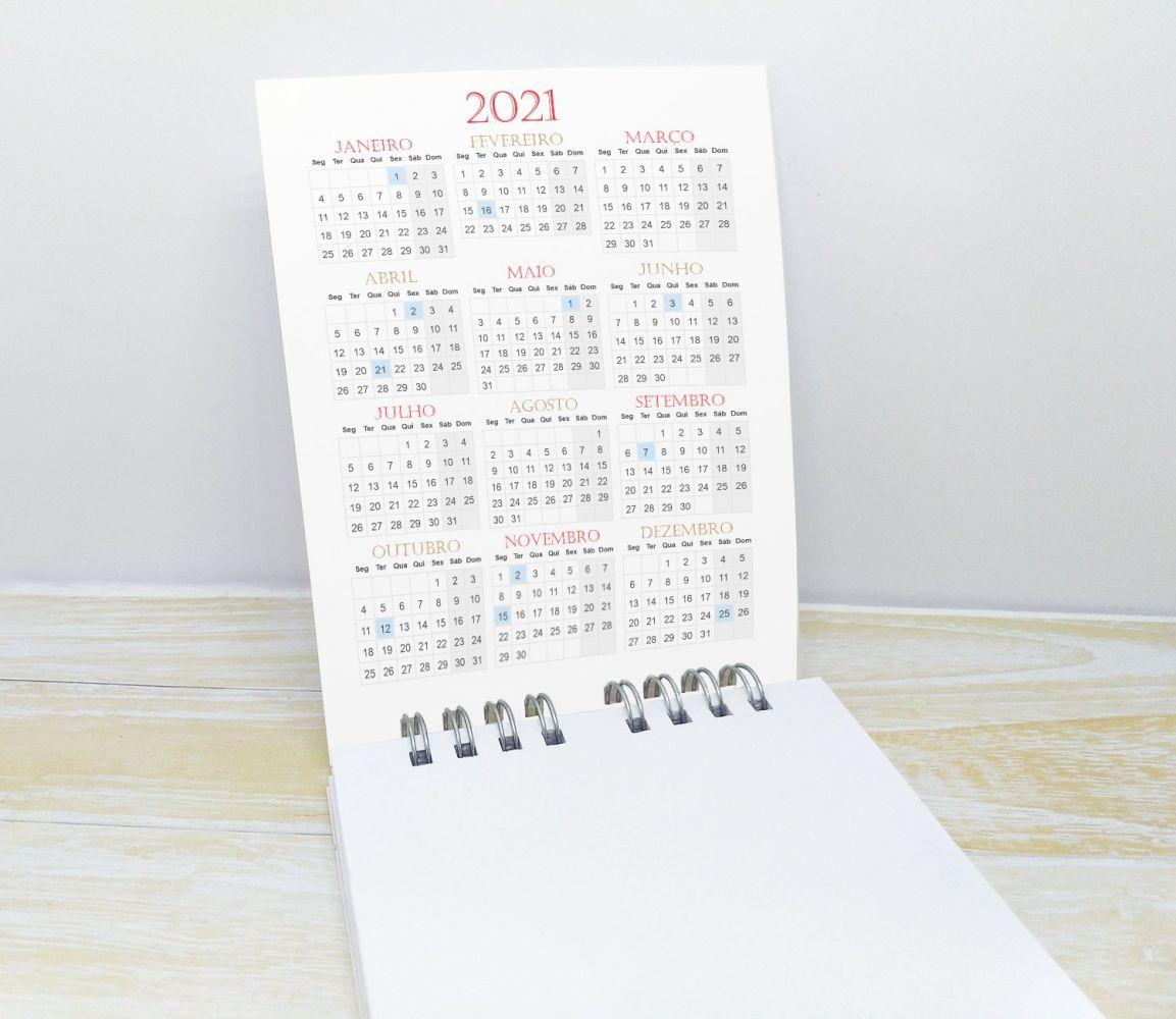 Bloquinho com Lápis e Calendário para Final de Ano - NATAL CUTE