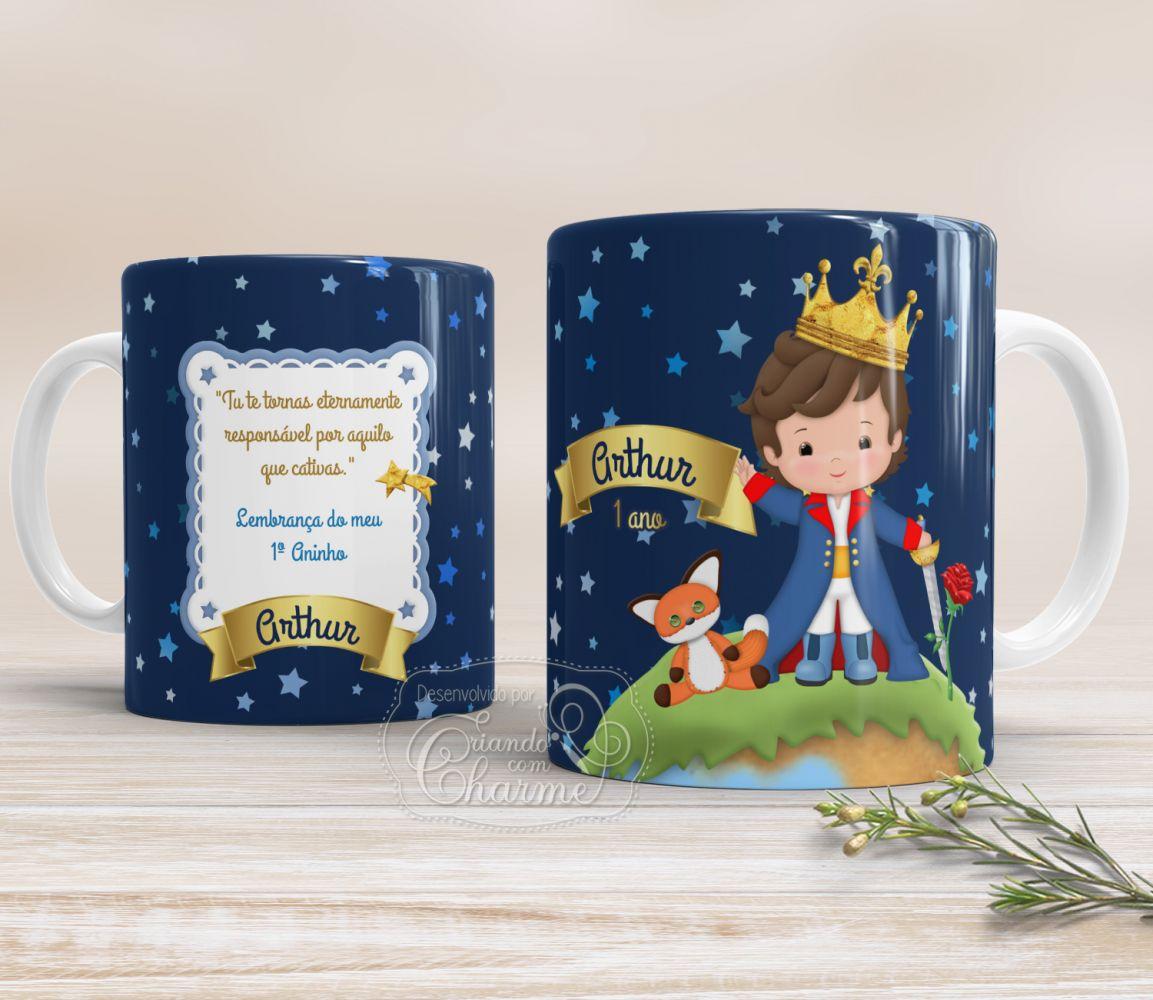 Caneca de Cerâmica Personalizada - Pequeno Príncipe Aniversário