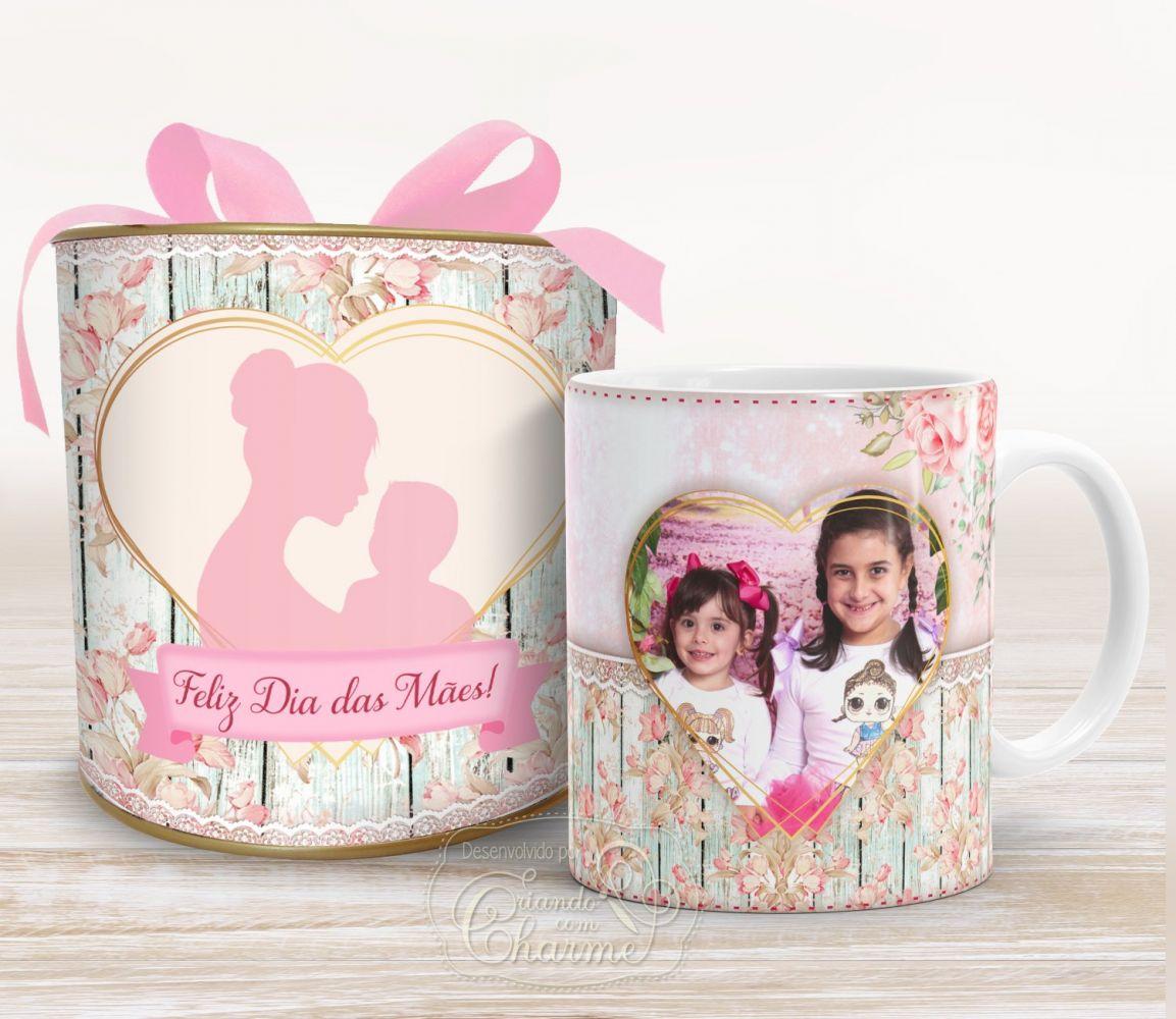 Caneca Dia das Mães Personalizada com Foto