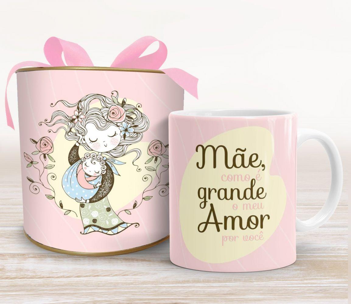 Caneca para mãe Grande Amor - PRONTA ENTREGA
