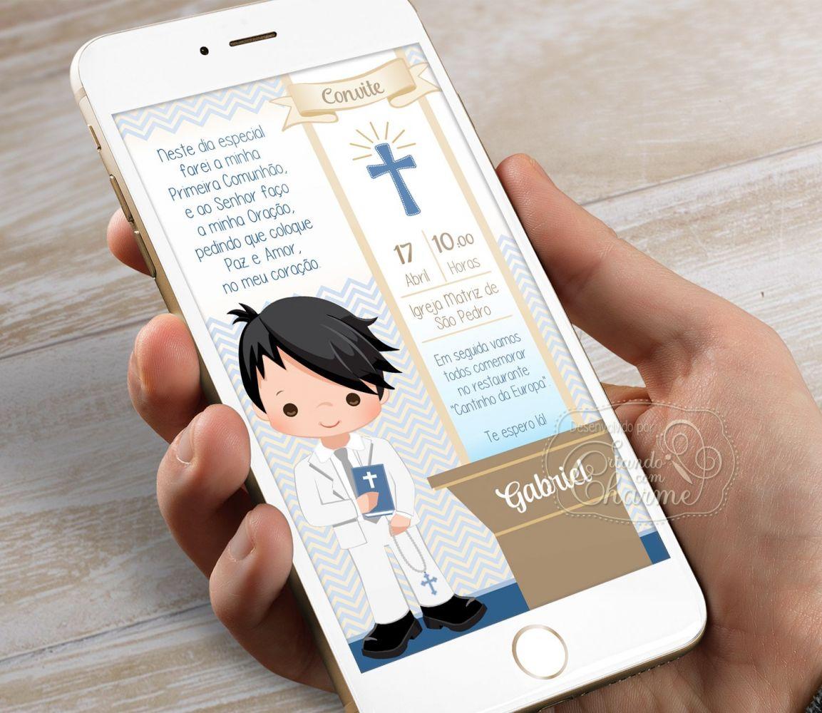 Convite Digital para Eucaristia - Tema Eucharist AD