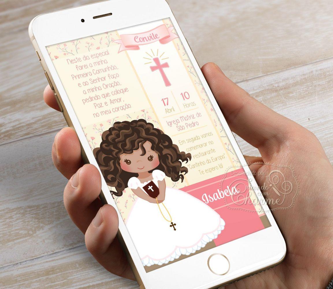 Convite Digital para Eucaristia - Tema Eucharist Salmão