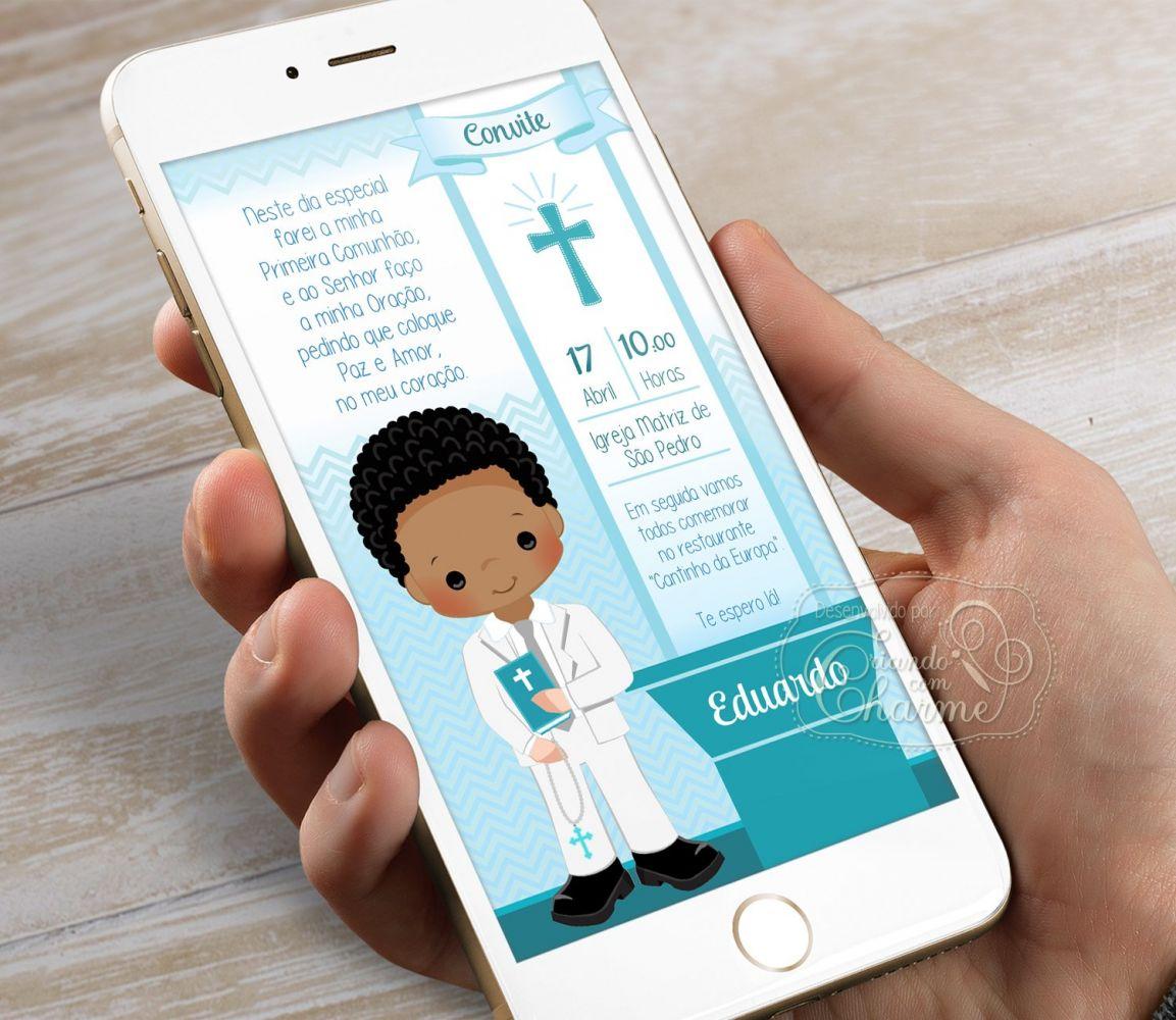 Convite Digital para Eucaristia - Tema Eucharist Verde