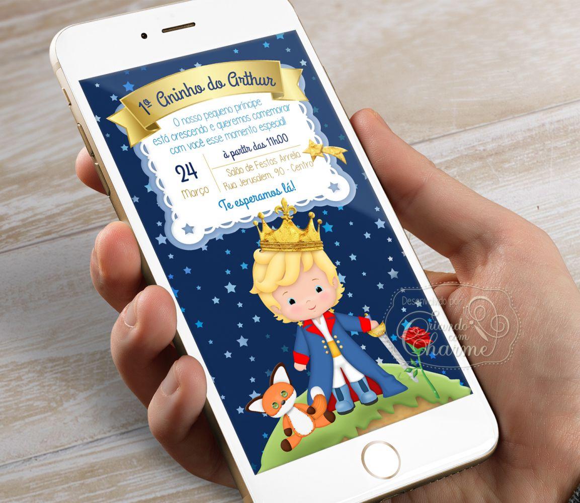 Convite Pequeno Príncipe - Digital Aniversário