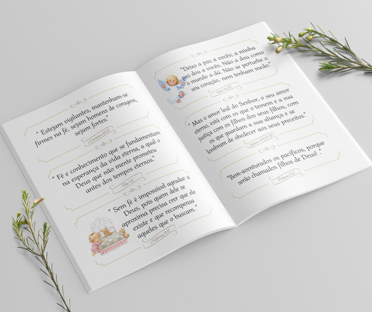Mini Bíblia Personalizada 10X7 cm - Arabescos Azul