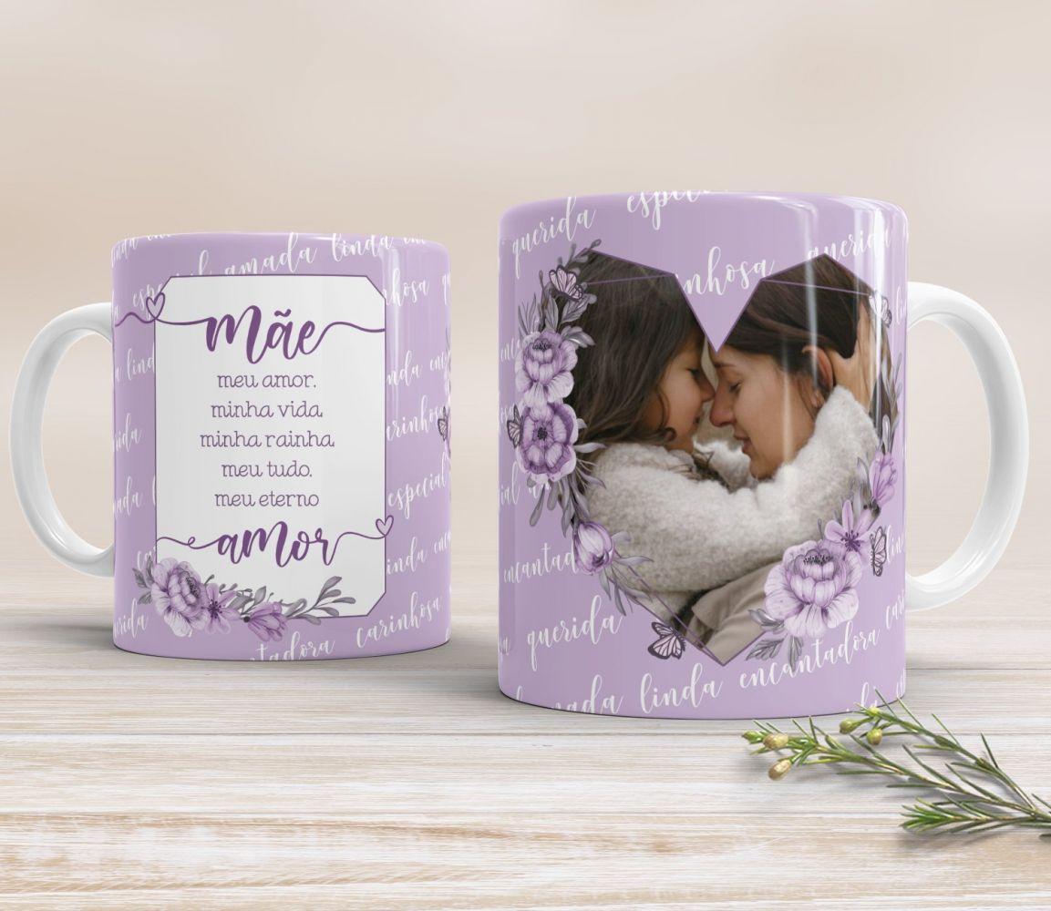 Dia das Mães - Caneca personalizada na Tubolata  - Lilás