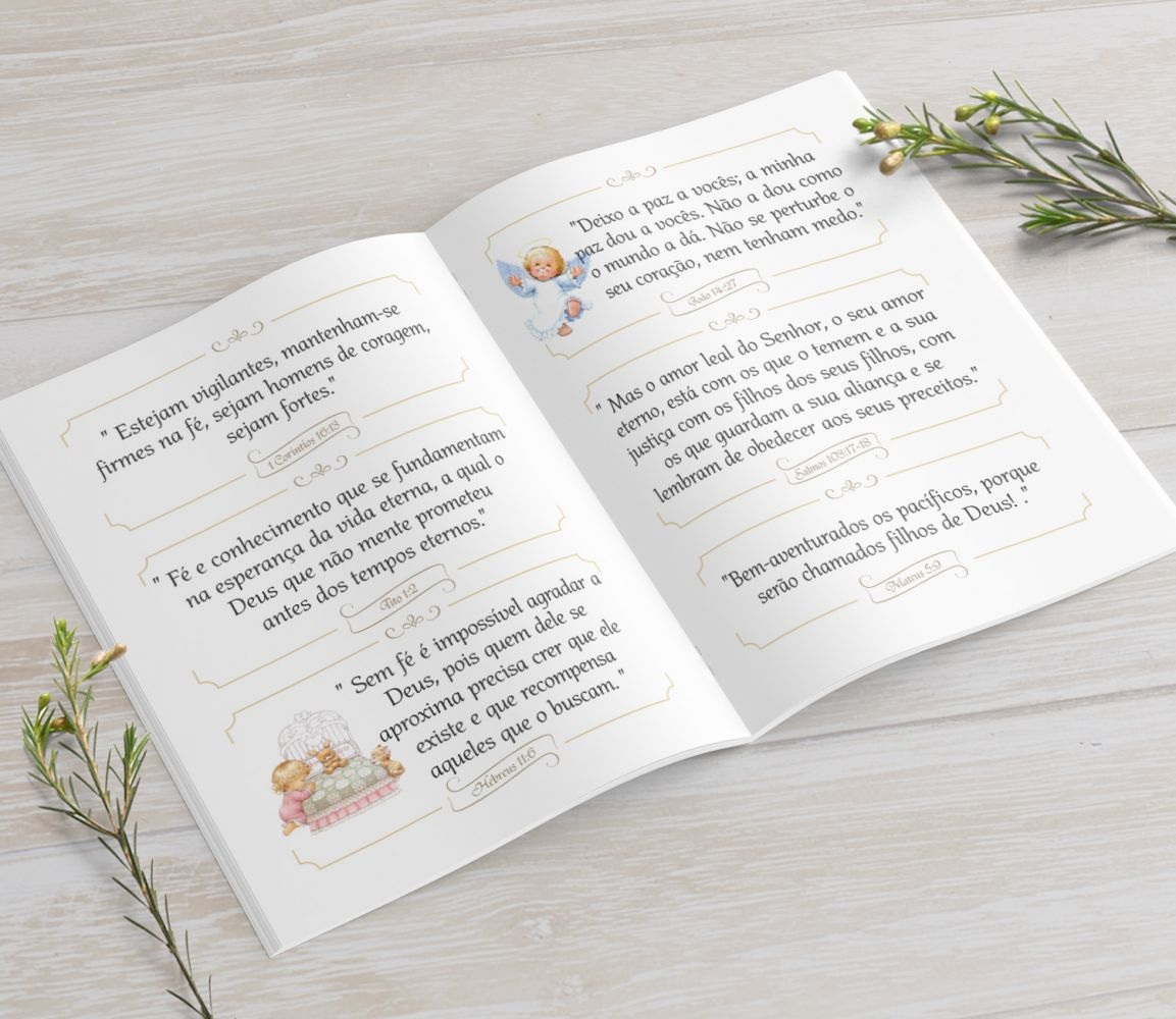 Mini Bíblia - Chuva de Pétalas - 10X7 cm