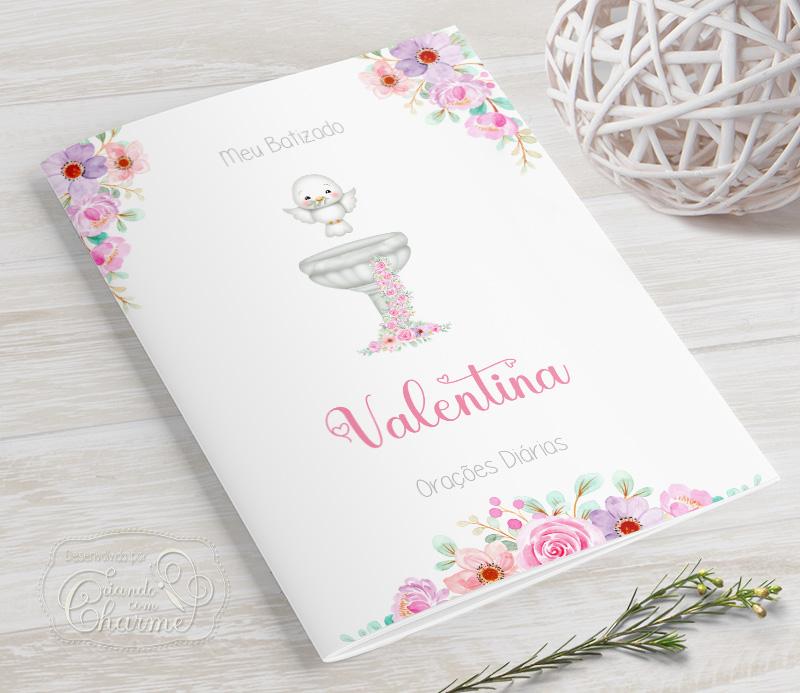 Livrinho de Orações - Floral Delicado - PLUS 25 Orações