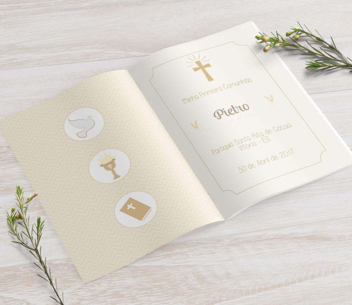 Livrinho de Orações - Cálice Dourado