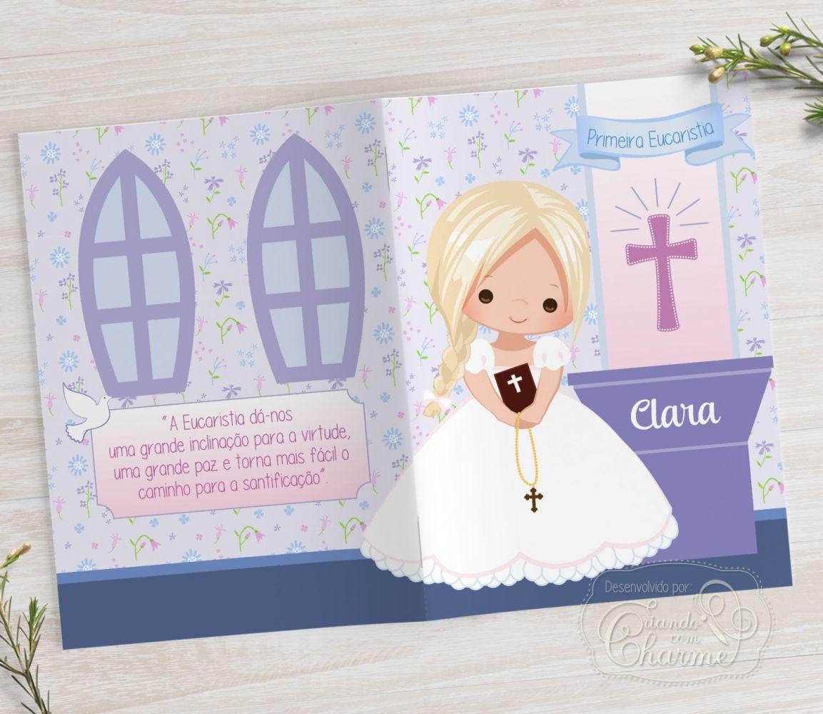Livrinho de Orações - Cálice Lilás