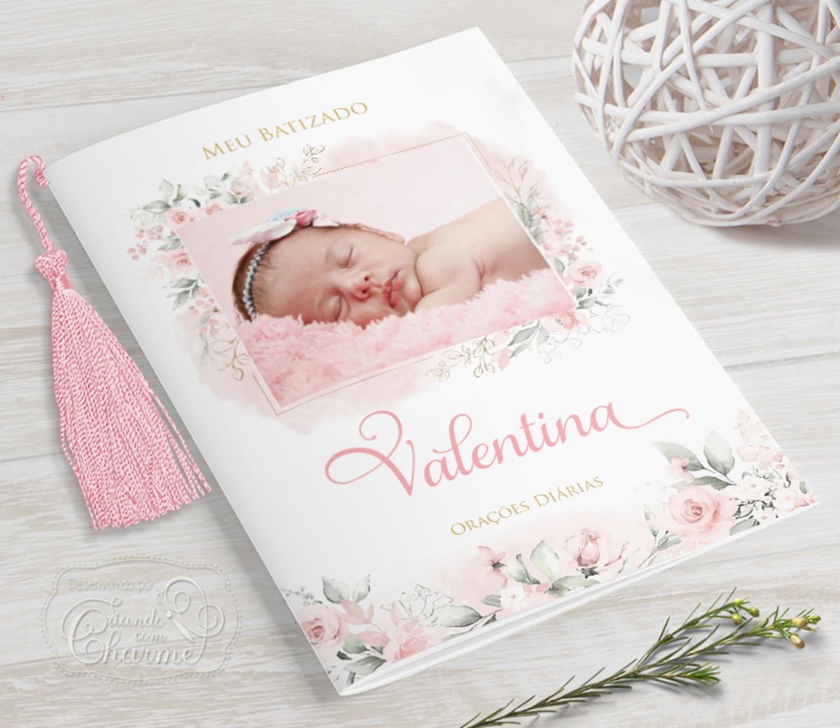 Livrinho de Orações com Fotos - Floral - 40 Orações