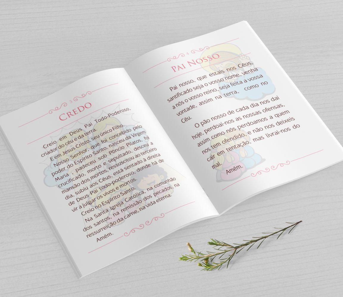 Livrinho de Orações com Fotos - Floral - PLUS 25 Orações