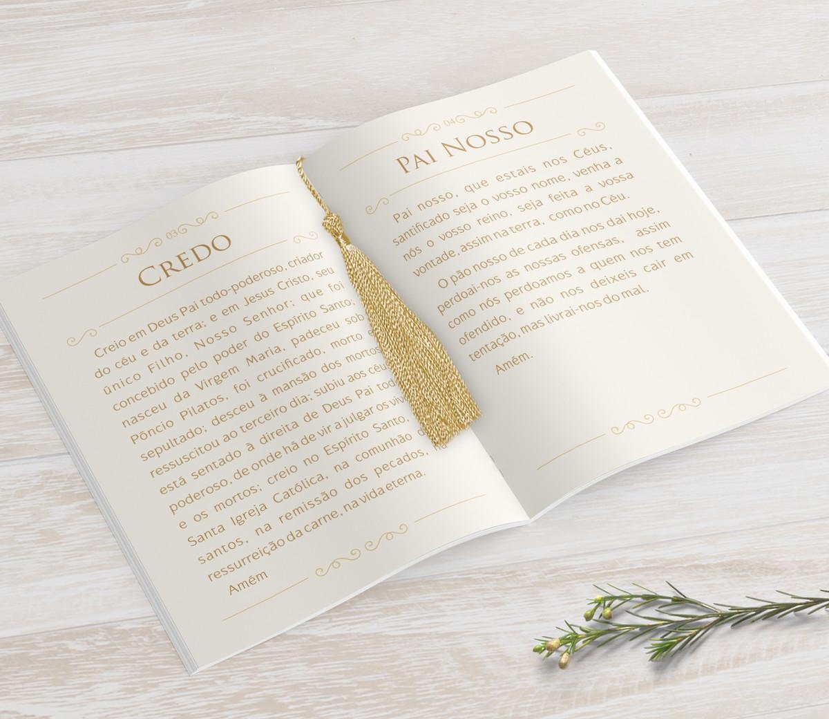 Livrinho de Orações com Pingente Tassel - Folhagem - 10X14 cm