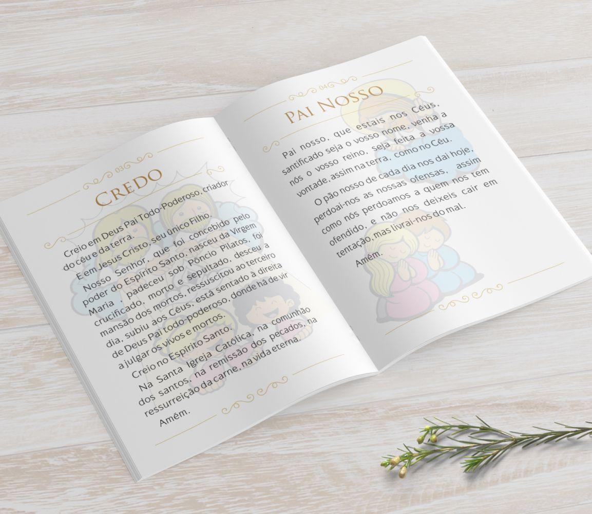 Livrinho de Orações com Pingente Tassel - Toile du Jouy Dourado- 10X14 cm