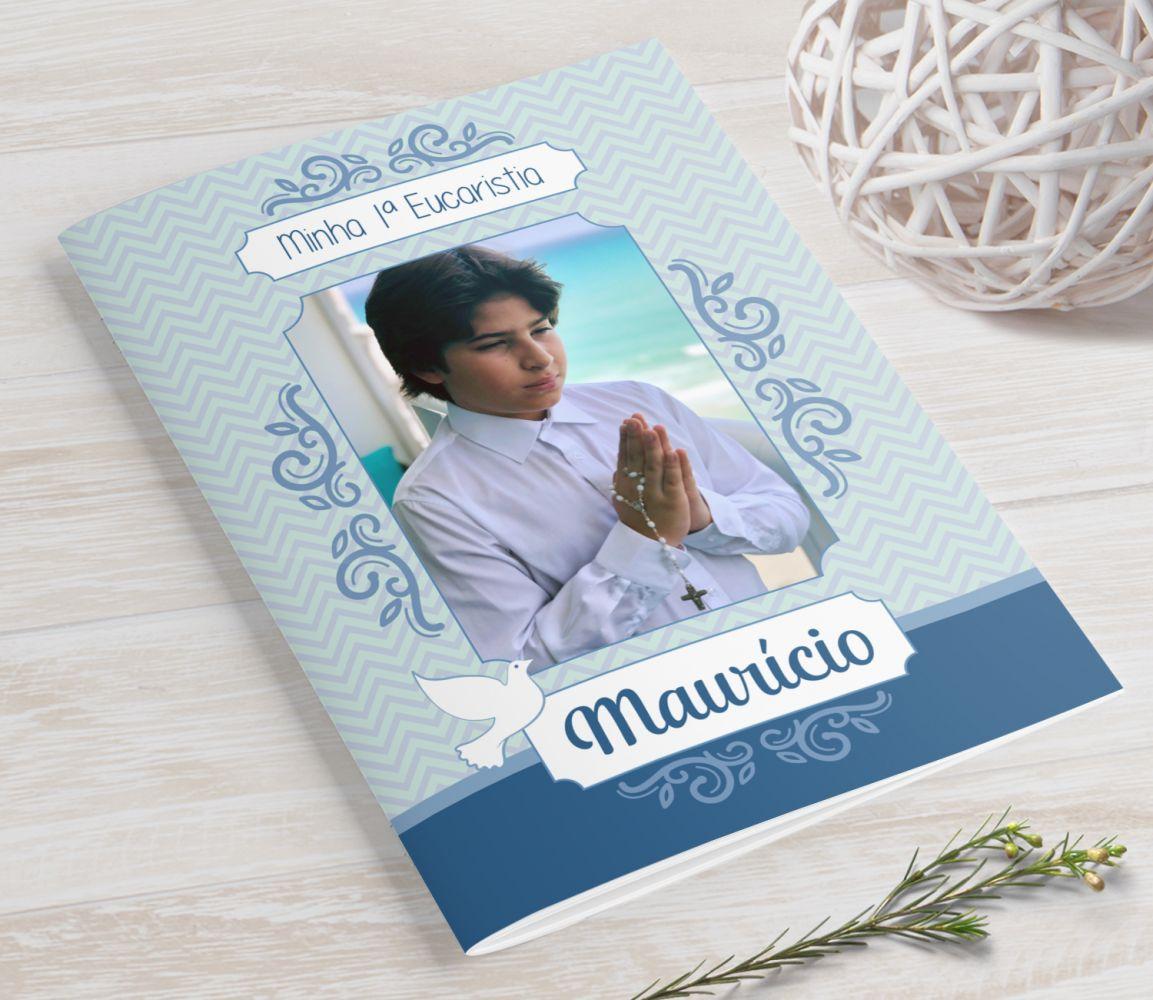 Livrinho de Orações para Eucaristia com a Foto da Criança- 10X14 cm