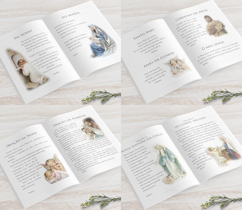 Livro de Orações 40 Páginas - Aquarela Menina