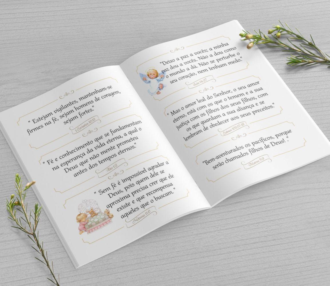 Mini Bíblia Personalizada 10X7 cm - Arabescos Menino