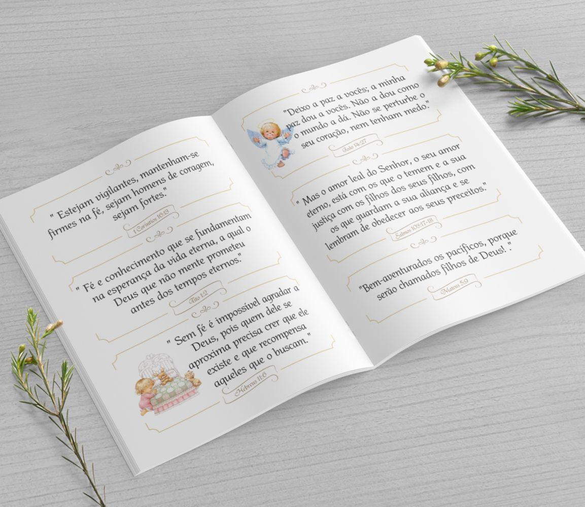 Mini Bíblia Personalizada 10X7 cm - Menino Ursinho
