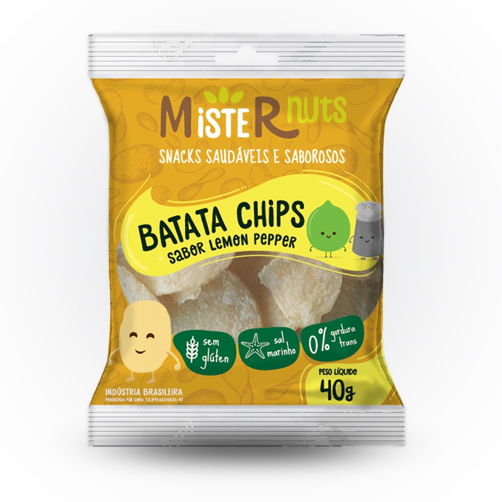 BATATA CHIPS 40G LEMON PEPPER