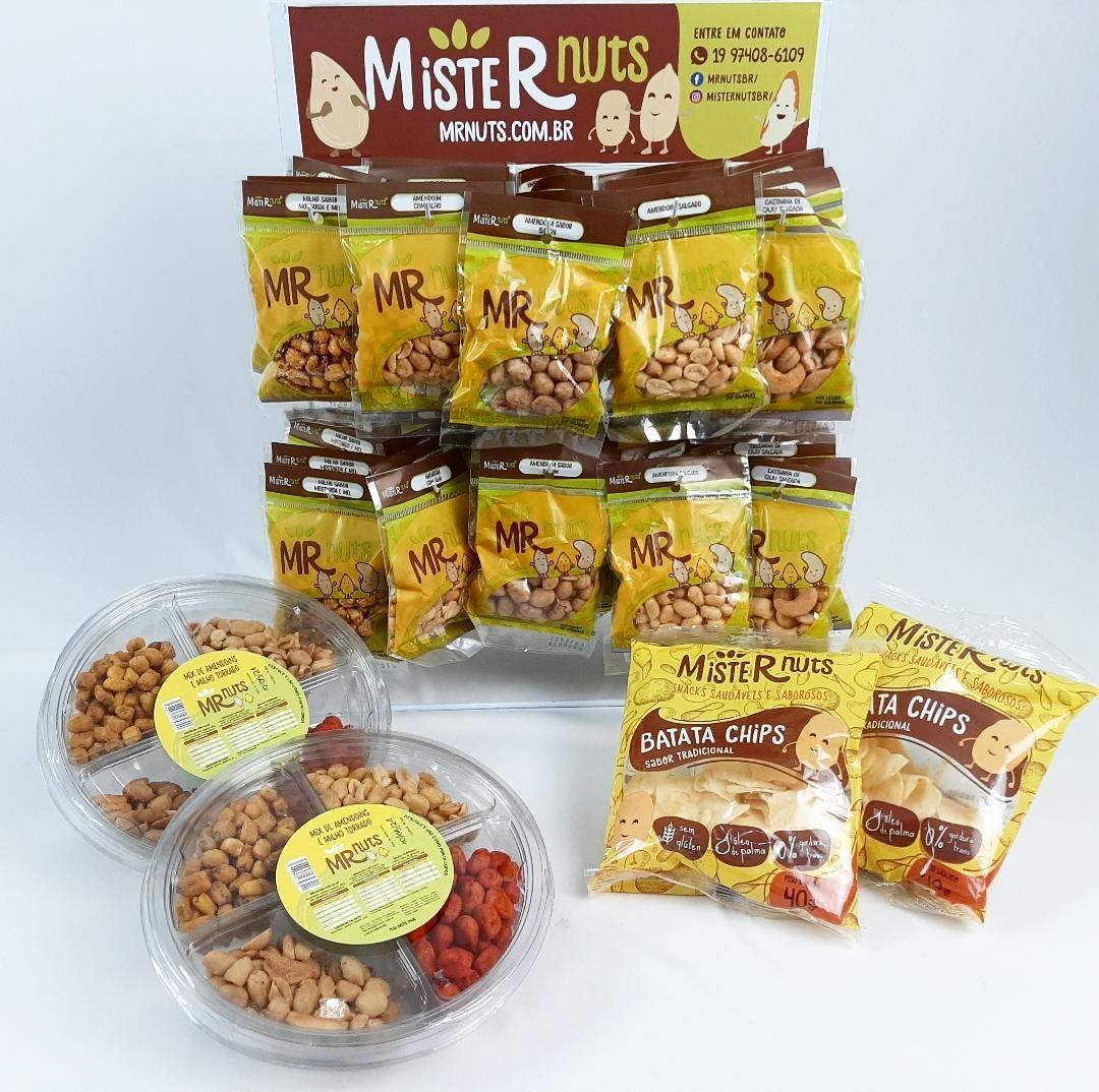KIT 1 (CONTÉM: Batatas; Amendoins; Milho e Castanha de caju)